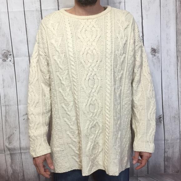 Aran Crafts Sweaters Ireland Fishing Xl Cable Knit Sweater Poshmark